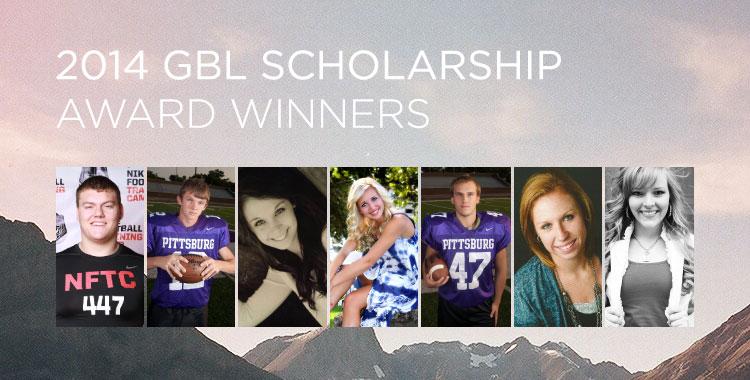 2014 GBL Scholarship Award Winners
